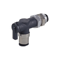 Shut-off Valve, Ball Valve 10 Series, Bulkhead Union Elbow