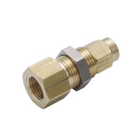 for Sputtering Resistant, Brass Tightening Fitting, Female Bulkhead Straight
