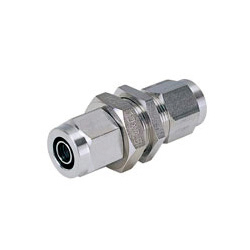 for Corrosion Resistance - SUS316 Tightening Fitting - Bulkhead Union Straight