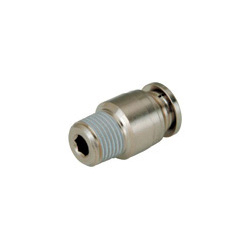 Tube Fitting Plus Hexagonal Socket Head Straight with No Cover for Sputtering Resistance