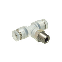 for Clean Environment, Tube Fitting PP Type Tee, Screw Element SUS304