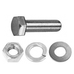 10 pcs nuts and washers lengths 20-120 choice M6 Carriage Bolts M6x20