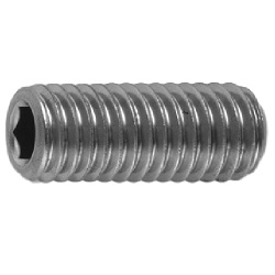 Hexagon Socket Set Screw, Indented Tip, by Nissan Screw Co., Ltd.