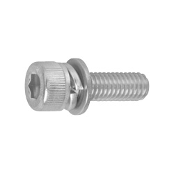 Hexagon Socket Bolt (Cap Screw) I = 3 (w/integrated SW+ISO W), by Tomishin