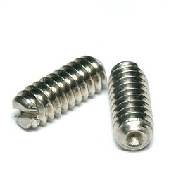 Slotted Set Screw with Cupped End - Inch Size