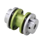 Long Disc-Shaped Coupling, Set Screw Type (Double Disc)