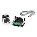 Controller built-in micro step driver & stepping motor set CSA-UP series (USB-RS485 compact)
