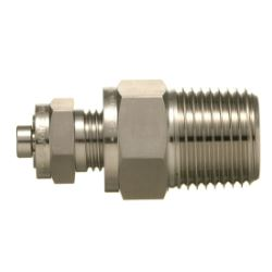 SUS316 Stainless Steel Double Ferrule Fitting Male Drain Plug