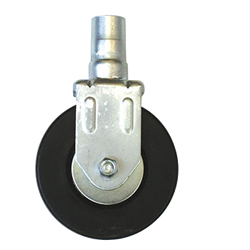 Caster Insert Type Electrostatic Discharge Protection for Soft Rubber Bearing Casters