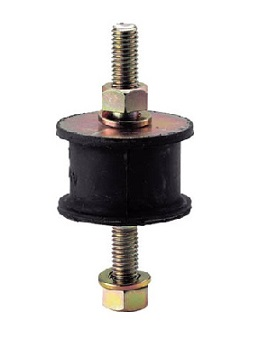 Round Vibration-Proof Rubber, Both-Side Bolt