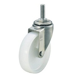 Screw-In Type, Nylon Caster, Stainless Steel Fitting, Freely Rotating Type