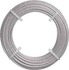 Stainless wire rope (with dedicated sleeve)