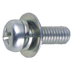 Pan Head Screws with Round with Washers Included