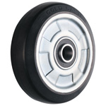 Wheel for Dedicated Caster W Series, Medium Duty Conductive Rubber Wheel, W-RBE (GOLD CASTER)