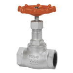 10K Type Ductile Cast-Iron Screw-in PTFE Disc-Containing Globe Valve <Soft Sheet>