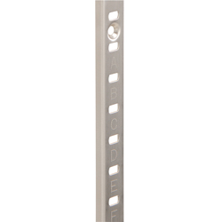 Stainless steel shelf column + shelf bracket + screws, set