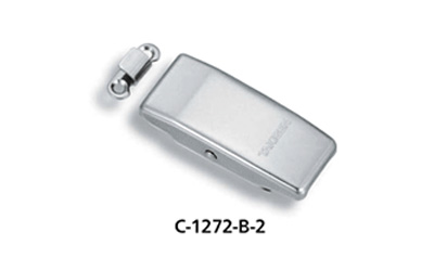 C-1272-B-2 external appearance Rounded appearance with a streamlined design. Streamlined design with mount and mechanism not visible externally. Choice of 2 types to fit application; built-in spring specification (A type), without spring specification (B type). · Materials: stainless-steel plate (SUS316) · Surface finish: gloss barrel polishing